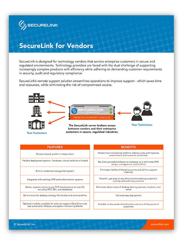 securelink vendors