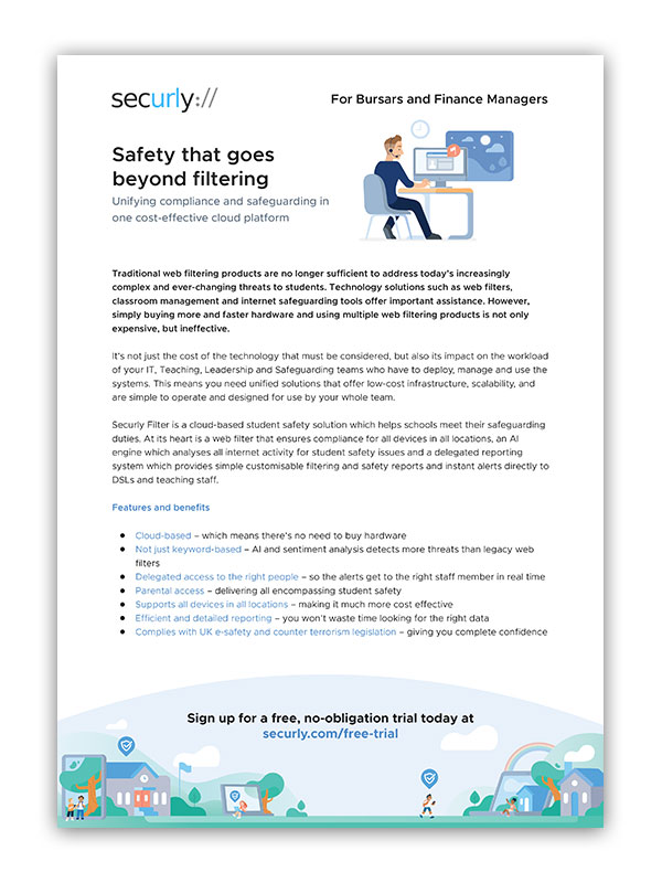 securly brochure for finance managers