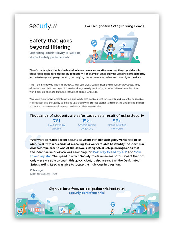 securly brochure for safeguarding leads